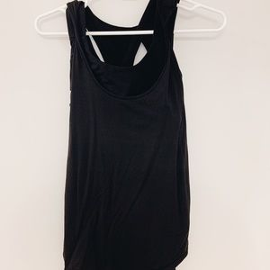 Black Lululemon Attached Sports Bra Tank Top